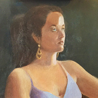 Oil painting Custom portrait 16x20 (Sample Olivia 1) by Pamela Neswald