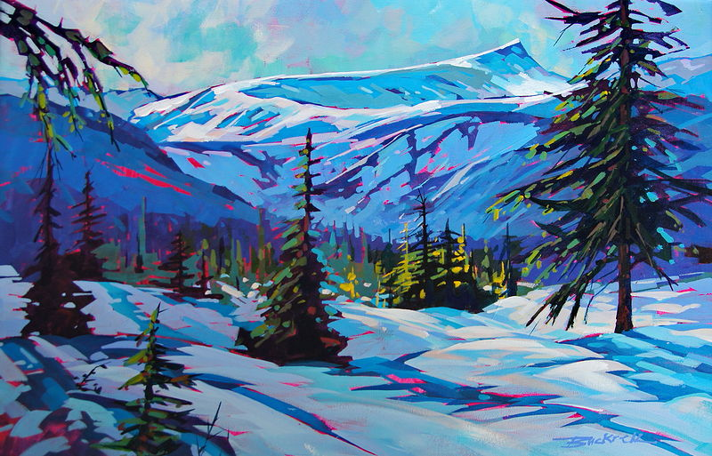 Winter Meadow Acrylic 20x30 2011 by Brian  Buckrell