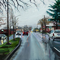 Oil painting Powell Drive by Shawn Demarest