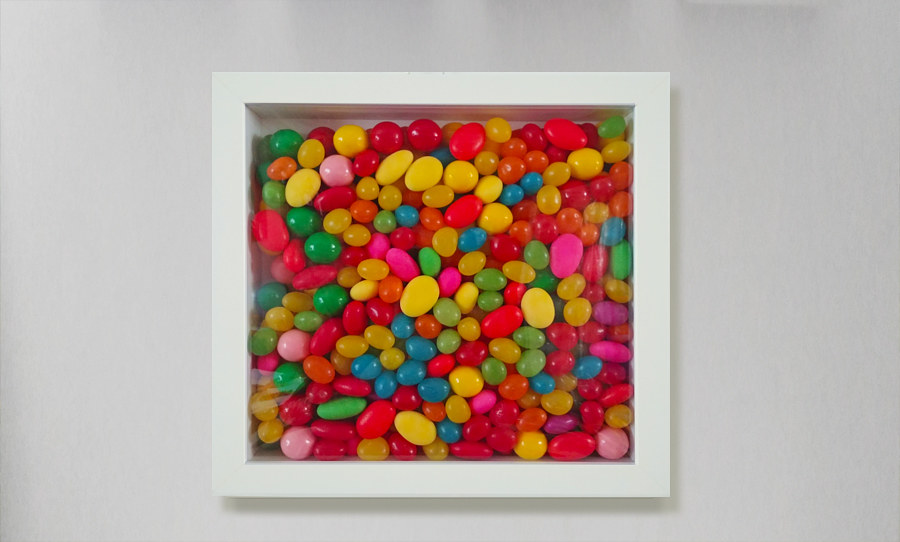 Kit for making thoughts from candies, Gallery Luz, Montreal, 2018  by Krasimira Dimtchevska