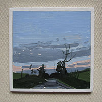 Acrylic painting Dusk South  by Harry Stooshinoff