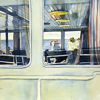 Watercolor Ferry Windows by Linda Finn