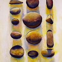 Watercolor Stone Language by Linda Finn