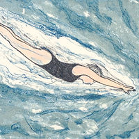 Drawing Diver by Linda Finn