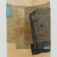 Mixed-media artwork Entering Solitude by Marilyn Joyce