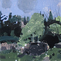 Acrylic painting Little Mound by Harry Stooshinoff