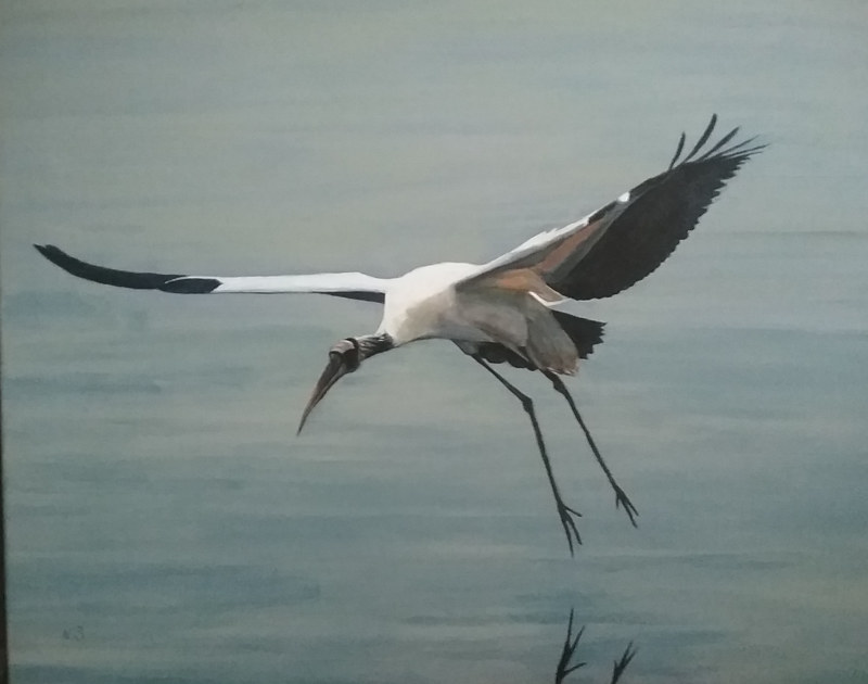Painting Wood Stork by Nancy Sharp