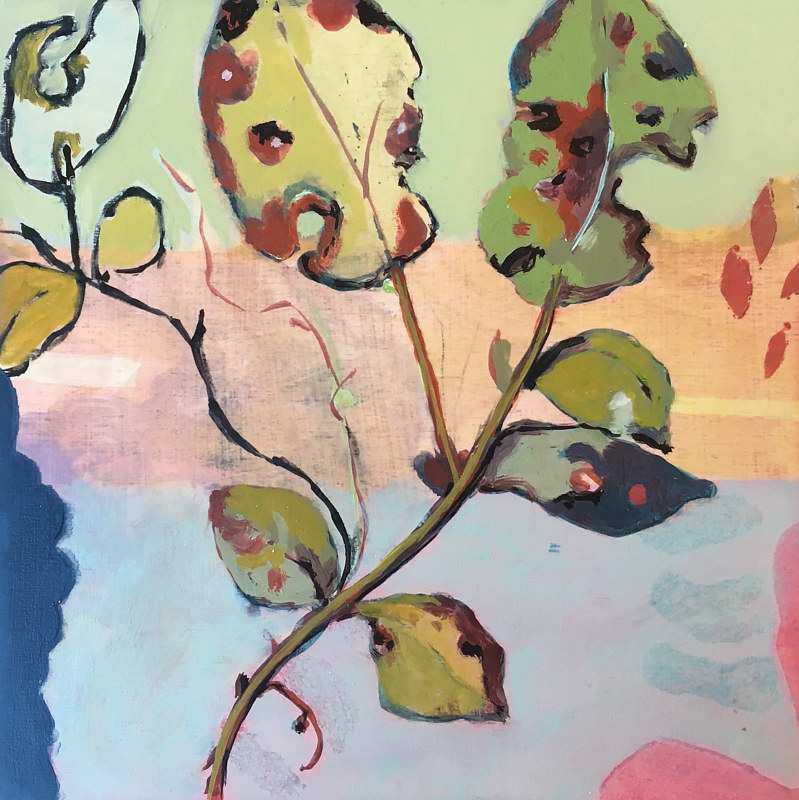 Oil painting Untitled (Salal) by Kate Scoones