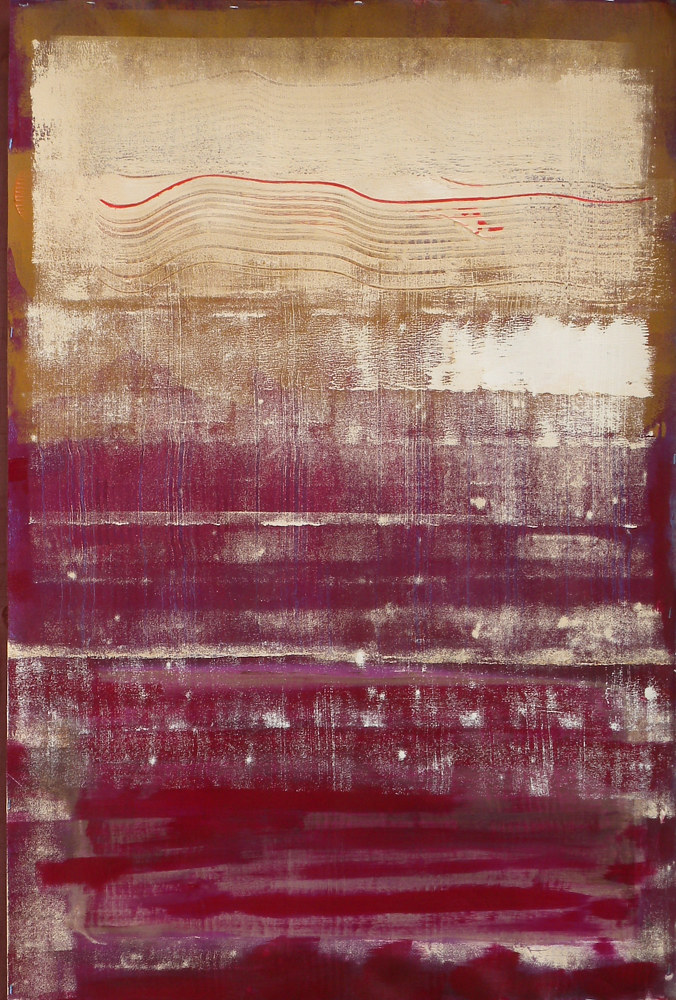 Painting Thin Red Line by Gordon Sellen