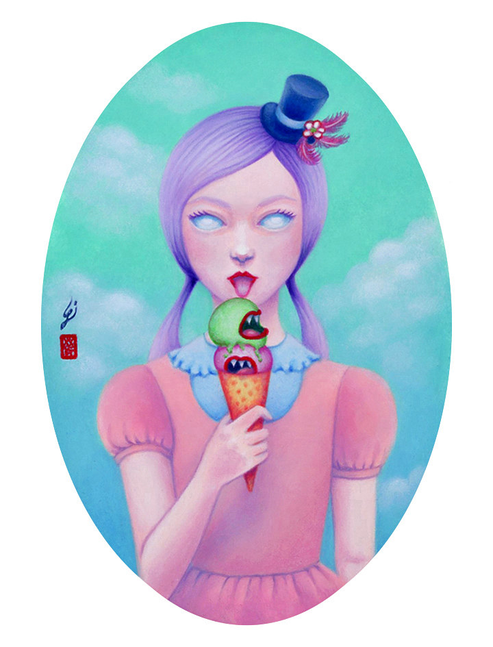 Oil painting Ice Scream by Carolina Seth