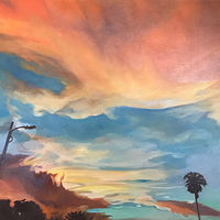 Oil painting Pasco sunset by Timothy Innamorato