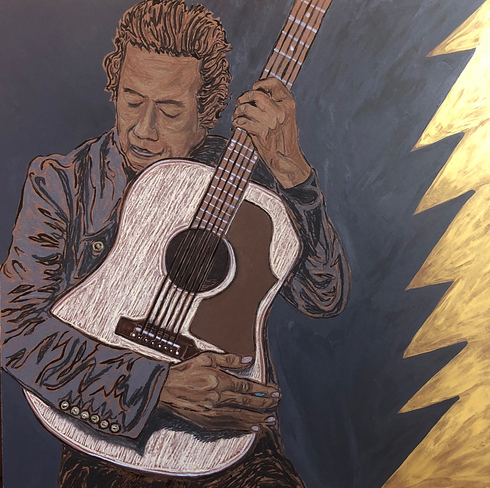 Print Alejandro Escovedo by Kelly Schafer