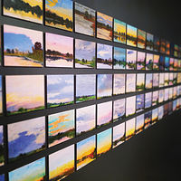 150 SUNSETS (Detail view) by Noah Verrier