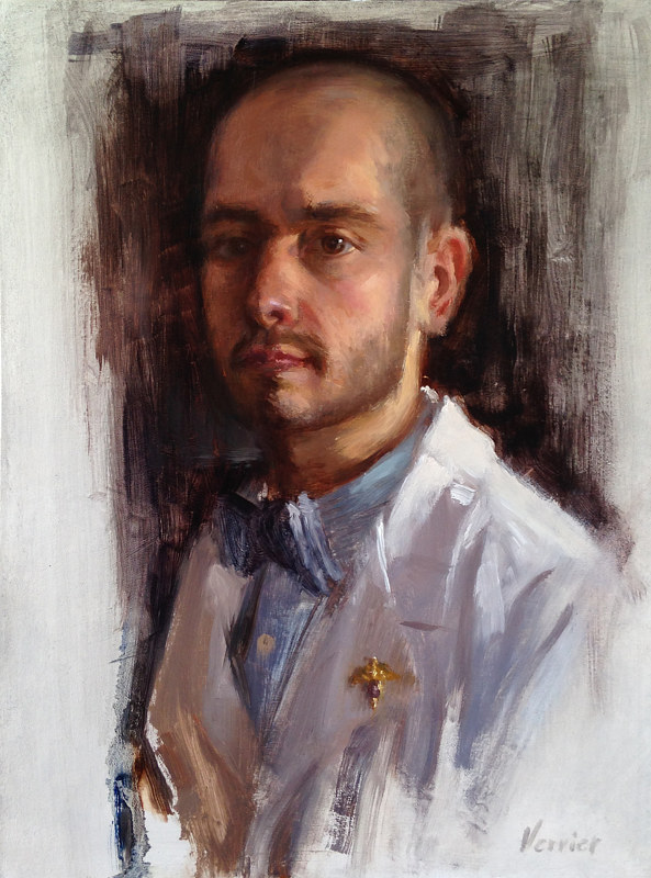Oil painting Dr. Zac by Noah Verrier