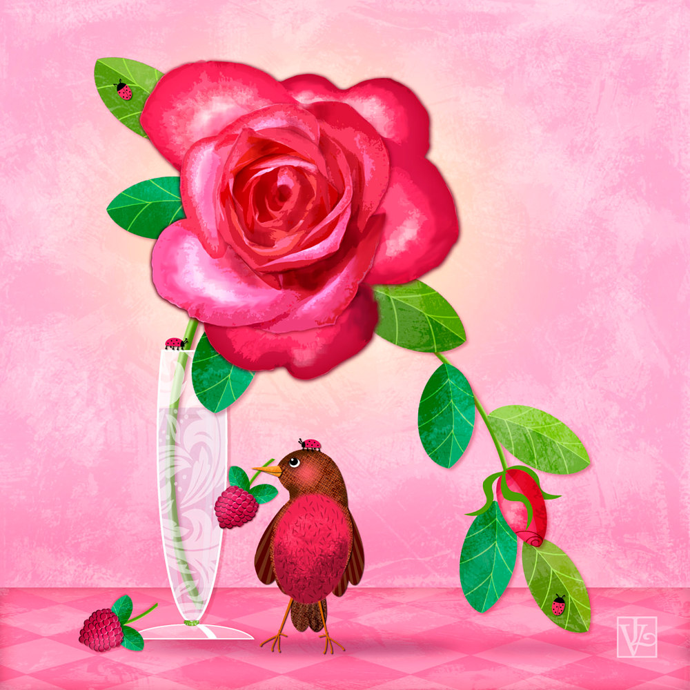 R is for Rose and Robin  by Valerie Lesiak