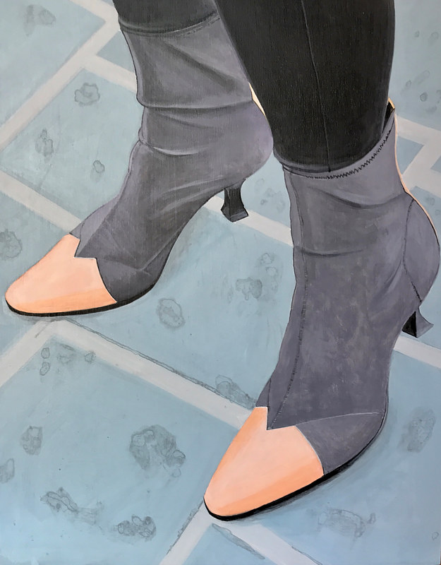 "Acrylic painting ""Boots"" by Brad Nuorala"