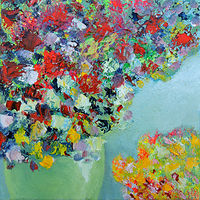 Oil painting Summer in Vase by Svetlana Barker