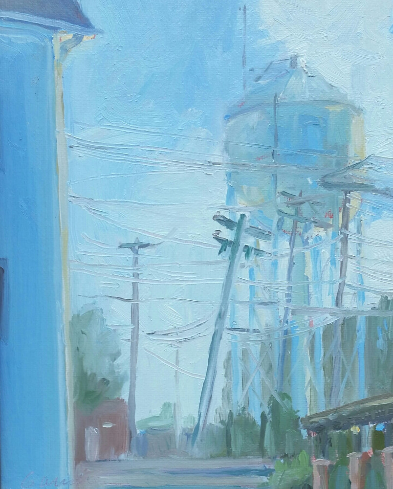 Bel Air Water tower, morning by Michael  Gaudreau