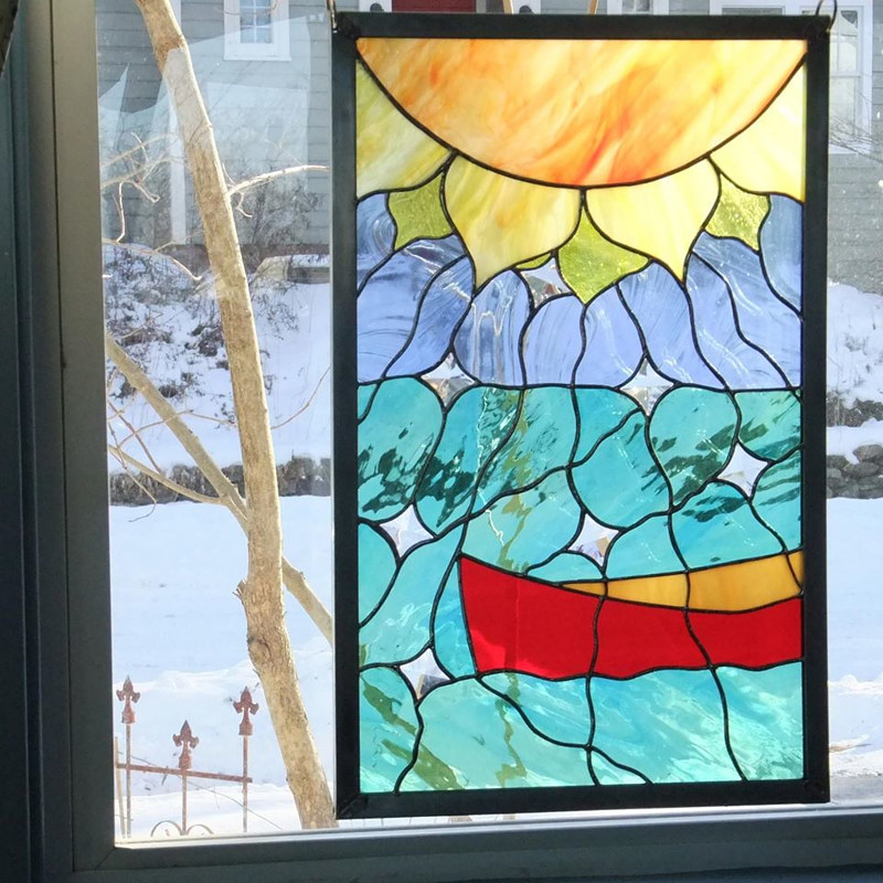 Cundiff_Evi_Heatwave_2014_Stained Glass_23 x 15_$425 by Evi Cundiff