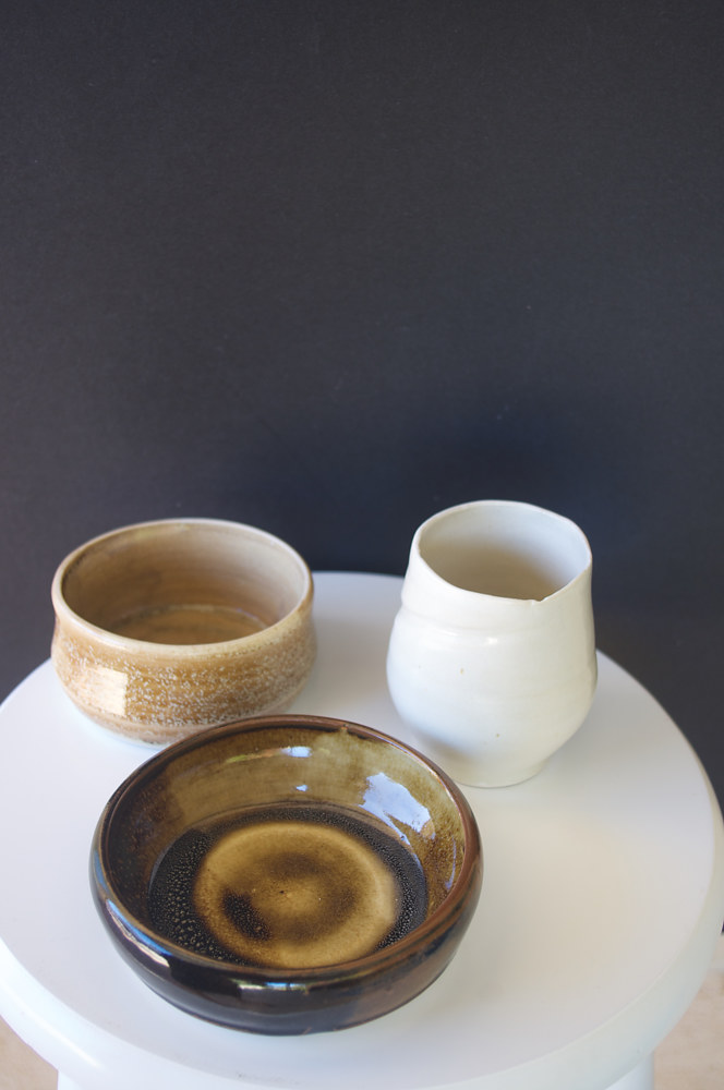 Ceramics from the ocean series by Laurie Cochrane