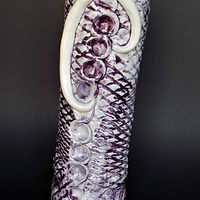 Purple Scale Vase by Susan James
