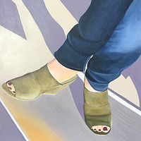 "Acrylic painting ""Painted Toes"" by Brad Nuorala"
