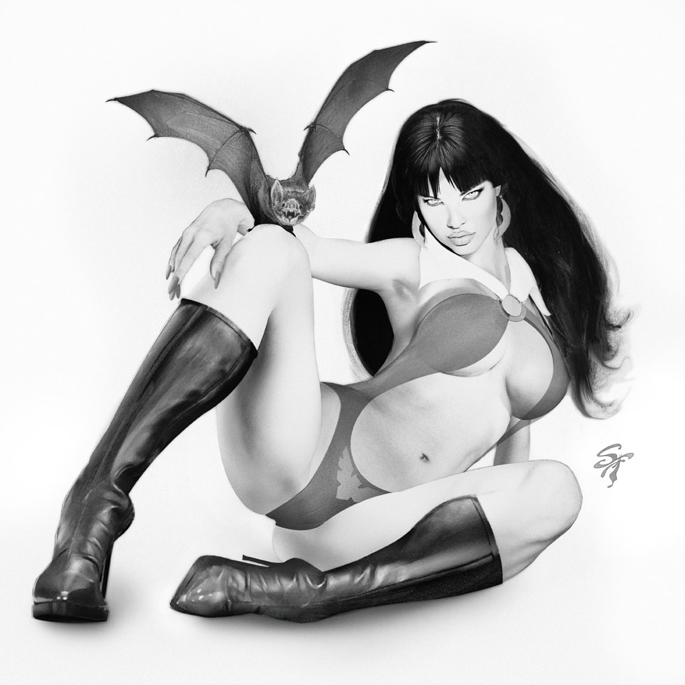 Vampirella-pencil by Steve Ferris