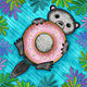 O is for Otter with an Oh so Delicious Doughnut by Valerie Lesiak