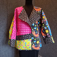 Print Happy Cat Jacket by Valerie Johnson