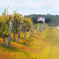 Oil painting Eastern Shore Vineyard by Michele Barnes