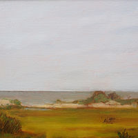 Oil painting Parramore Island Looking East by Michele Barnes