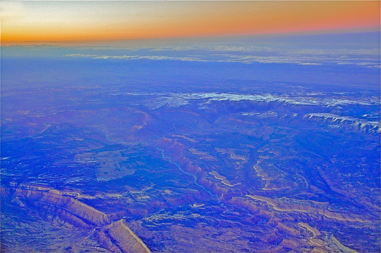 GRAND CANYON AERIAL by Joeann Edmonds-Matthew