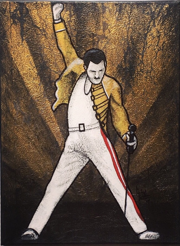 Painting QUEEN FREDDIE by Carly Jaye Smith