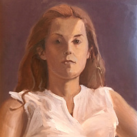 Oil painting Custom portrait 24x30 (Sample) by Pamela Neswald