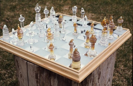 Lampwork Chess Set by Gordon Sellen