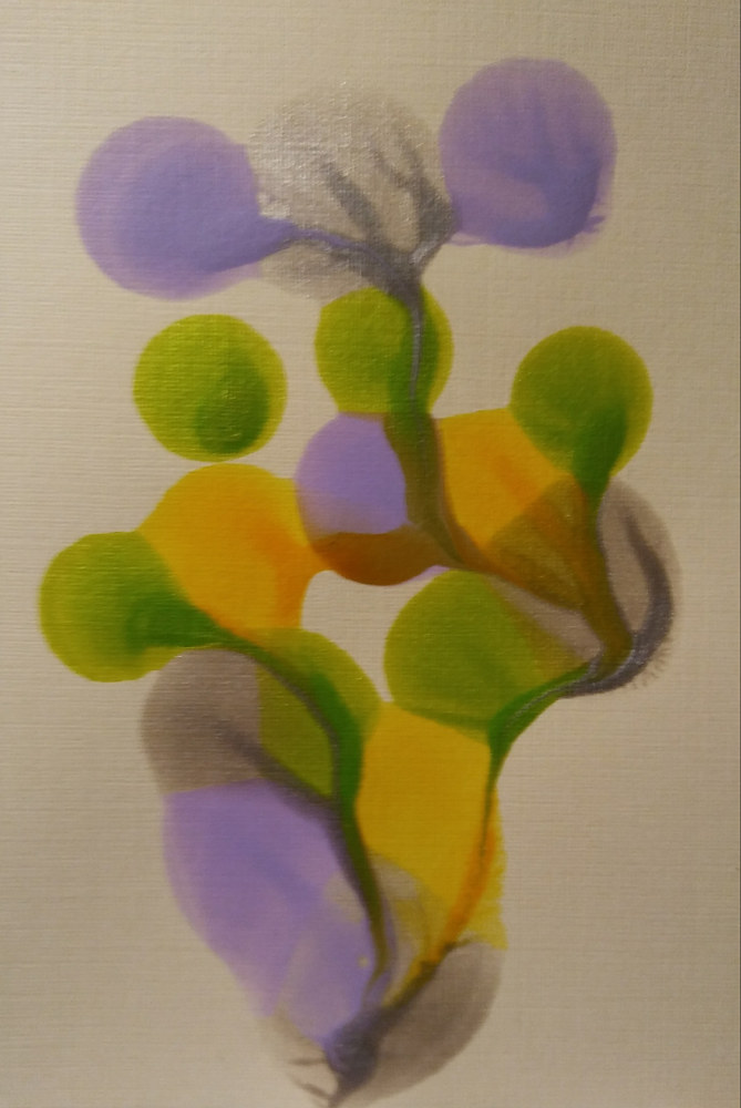 Plain Card#2/ Lavender/ Yellow/Lime/ by Georgette  Jones