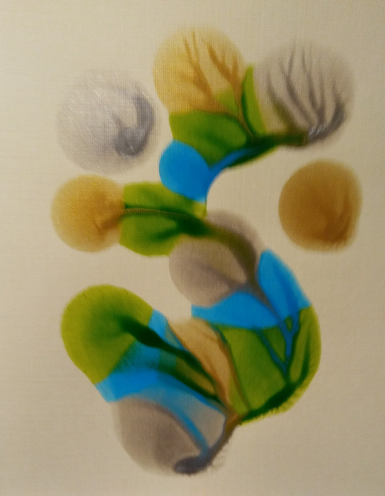 Plain Card #10/ Blue/ Silver/ Green/ Gold by Georgette  Jones