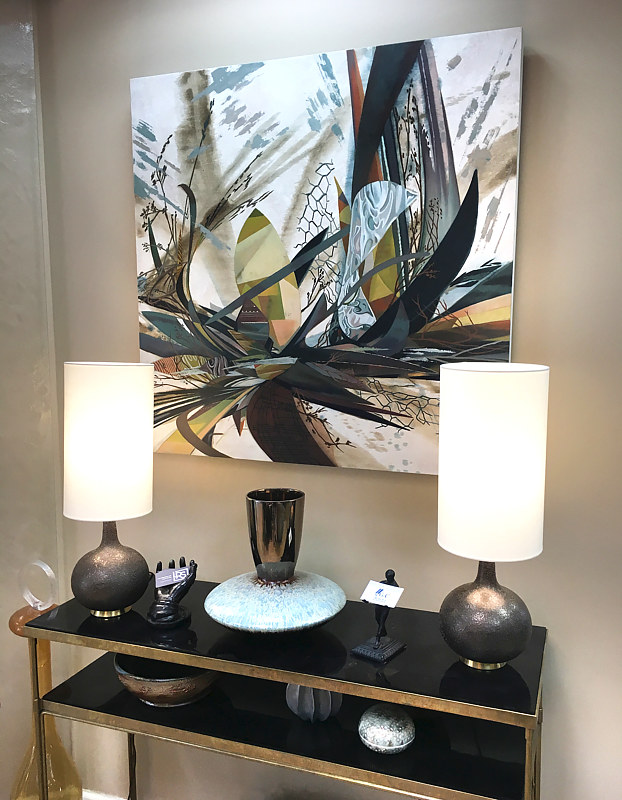 A beautiful vignette with Simulation #1 at LRS Interiors by Robert Porazinski
