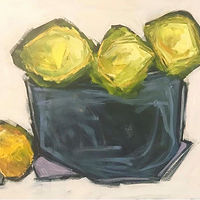 Oil painting Lemons No. 3 by Sarah Trundle
