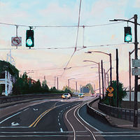 Oil painting Broadway Bridge Approach   by Shawn Demarest