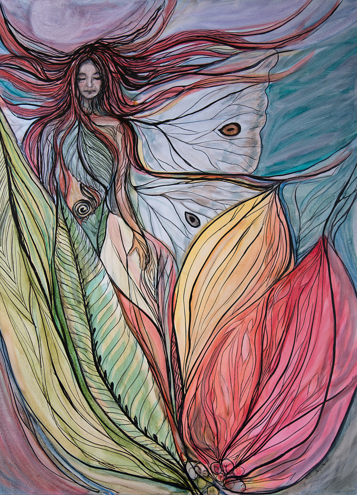 Watercolor Wild Pixie by Cary Wyninger