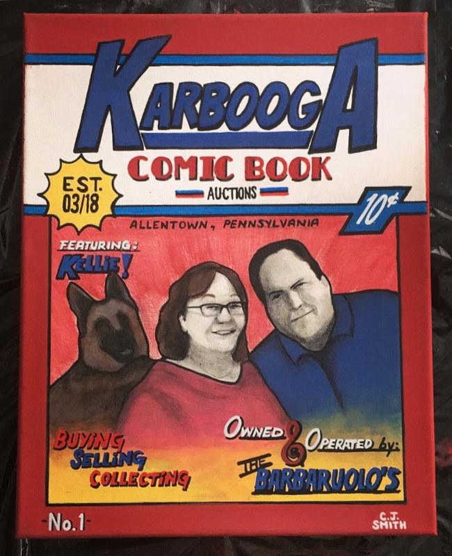 Acrylic painting KARBOOGA COMICS by Carly Jaye Smith