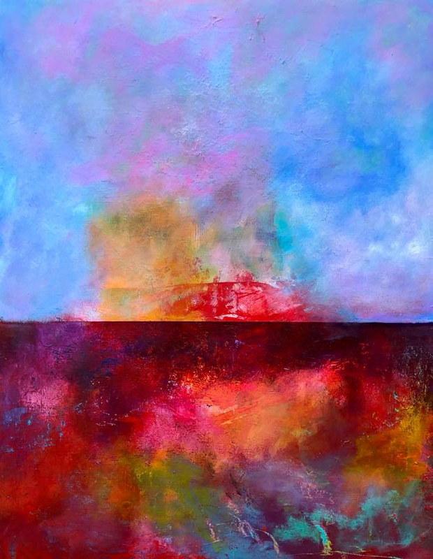 "Mixed-media artwork ""Passionate Horizon"" by Mike Salcido"