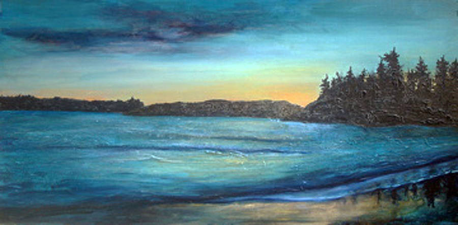 Acrylic painting January Blues  by Erin Burge