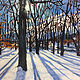 Oil painting Winter on Wanzer Hill, New Fairfield CT. by Elizabeth4361 Medeiros