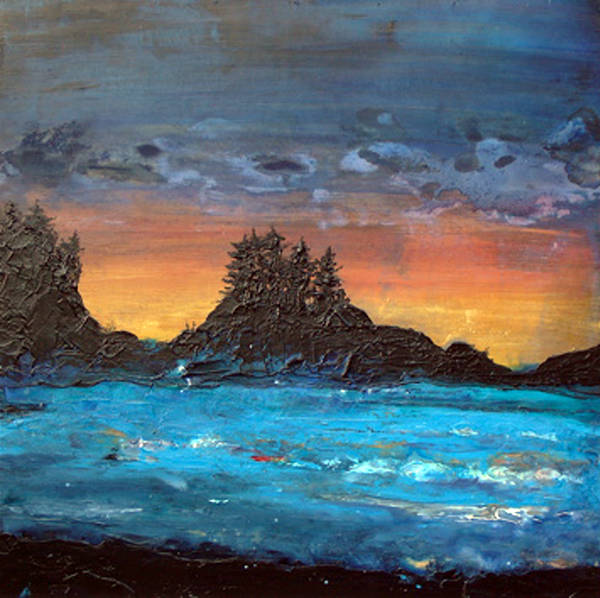 Acrylic painting Evening at South Chesterman by Erin Burge