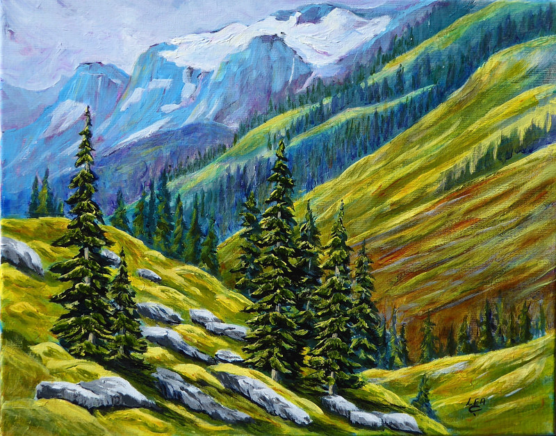 Acrylic painting High Country by Cecilia Lea