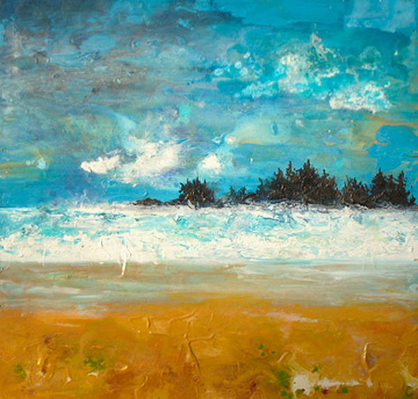 Acrylic painting Rough Seas  by Erin Burge
