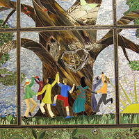 Tree of Character Mosaic Quilt by Linda Biggers