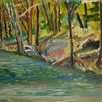 Oil painting Shoreline in the Kawarthas by Marc Brisson